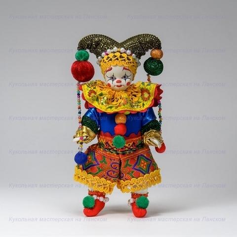 Клоун - интерьерная кукла