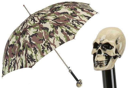 Зонт-трость Pasotti Camouflage Umbrella Skull , Италия (арт.460N 907-1 W33os).
