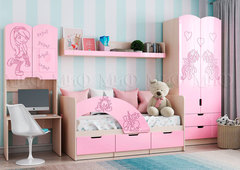 Детская Юниор-3 розовый металл