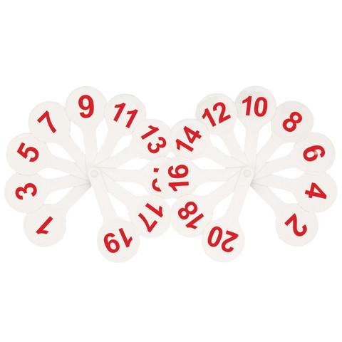 Веер-касса цифры от 1 до 20 ВК05