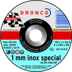 Абразивный отрезной диск Dronco AS 60 INOX 125х1