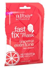 Тканевая грейпфрутовая маска для выравнивания тона кожи и цвета лица, Alba Botanica