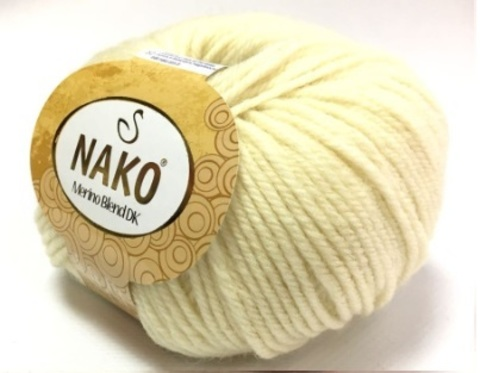 Пряжа Nako Merino Blend DK 300 молоко