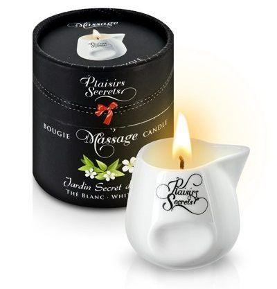 Массажные масла и свечи: Массажная свеча с ароматом белого чая Jardin Secret D asie The Blanc - 80 мл.