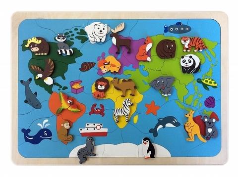 Мозаика-вкладыш Карта мира, Крона