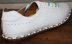 Летние туфли без каблука Evromoda 19604 White