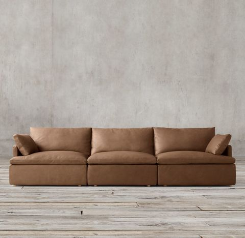 Cloud Track Arm Modular Leather Sofa Sectional