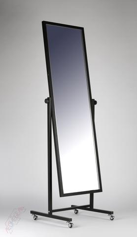 Т-150-48 Зеркало напольное с колесами (черное)