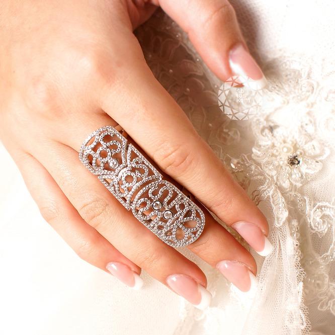 Кольцо на две фаланги из серебра