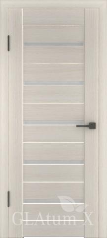 Дверь GreenLine X-7 Atum, стекло белое, цвет беленый дуб, остекленная