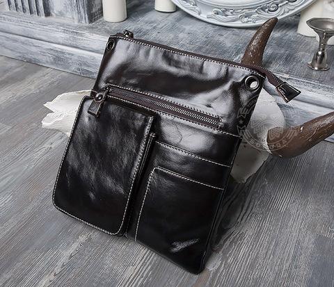 Мужская сумка из натуральной кожи с ремнем на плечо