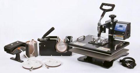 Термопресс 6-в-1 (для маек 30х38см, тканей, кружек, тарелок, бейсболок) - Термопресс (КОМБО), Электронное управление, плоский эл. 30х38см, 6в1
