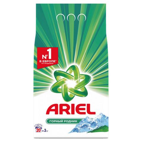 Порошок стиральный ARIEL автомат Горный родник 3кг д/белого белья