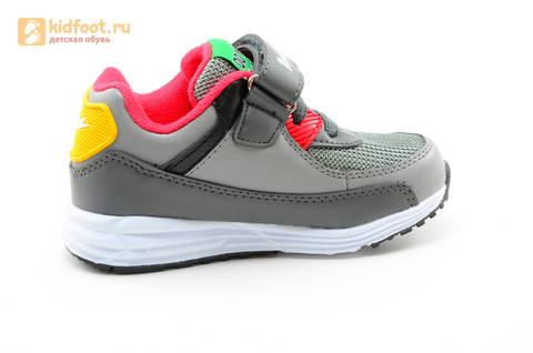 Светящиеся кроссовки для мальчиков Энгри Бердс (Angry Birds) на липучках, цвет темно серый, мигает картинка сбоку. Изображение 4 из 15.