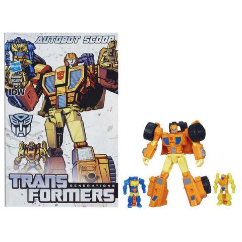 Робот - трансформер Скуп с Комиксом (Scoop) - Поколение Трансформеров, Hasbro