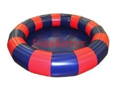 Большой надувной бассейн круглой формы