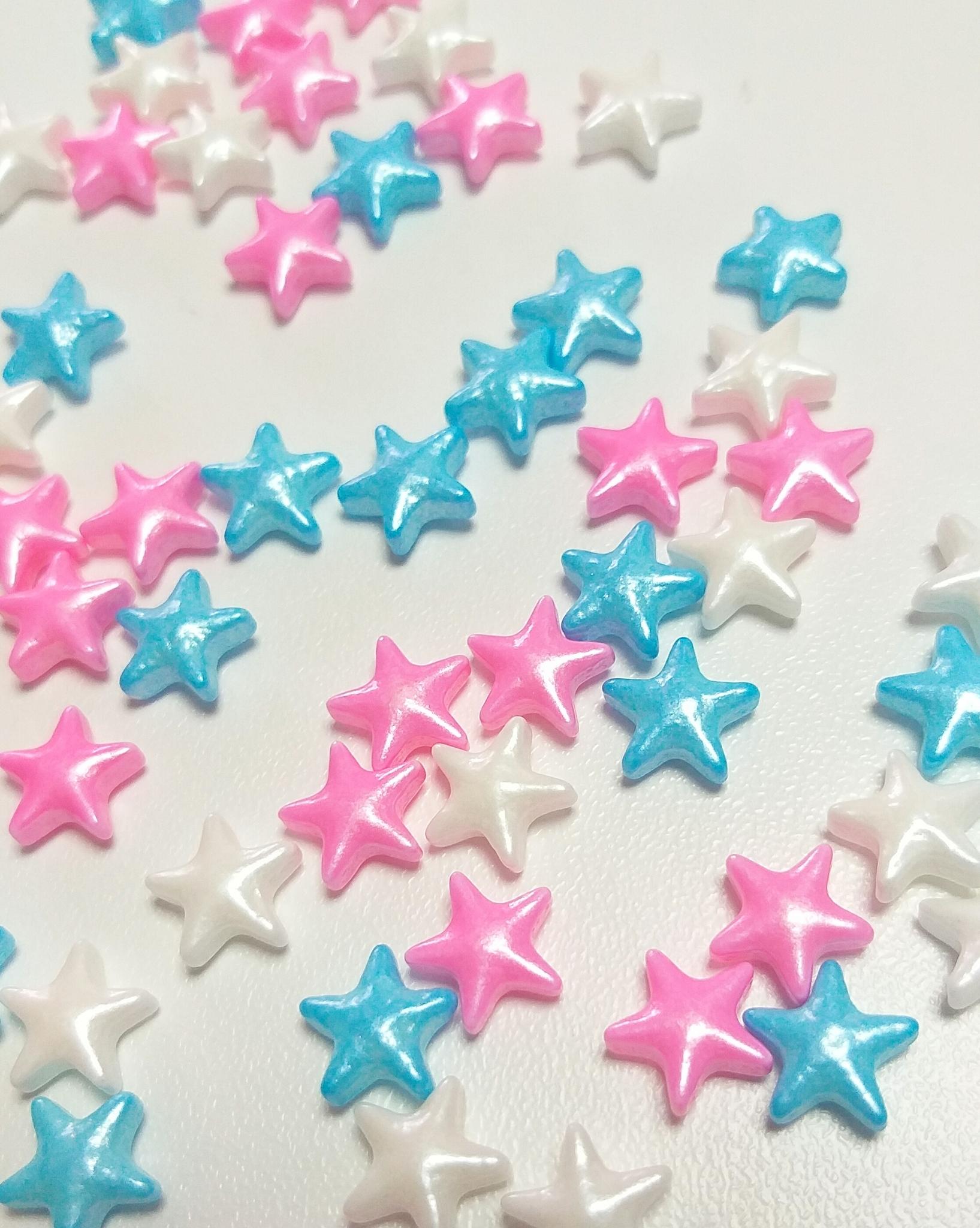 Посыпка кондитерская  «Звёзды бело-розово-голубые», 20г