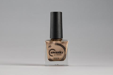 Лак для стемпинга Swanky Stamping Metallic 02, светлое золото, 10 мл.