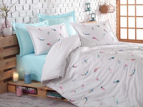 Комплект постельного белья DANTELA VITA сатин с вышивкой 200*220 (50*70/4 шт.) ORIELD