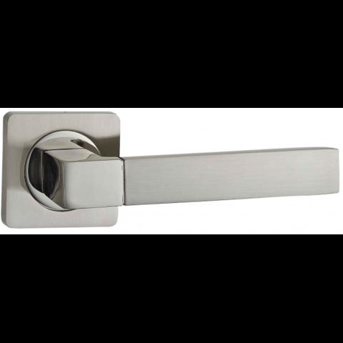 Фурнитура - Ручка Дверная  Puerto AL 521-02, цвет никель матовый/никель блестящий