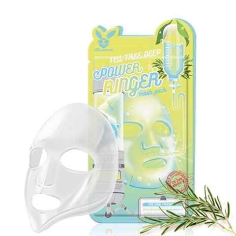 Маска для лица c чайным деревом ELIZAVECCA TEA TREE DEEP POWER RINGER MASK PACK