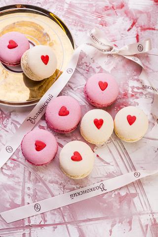 Макарони ваниль с сердцем
