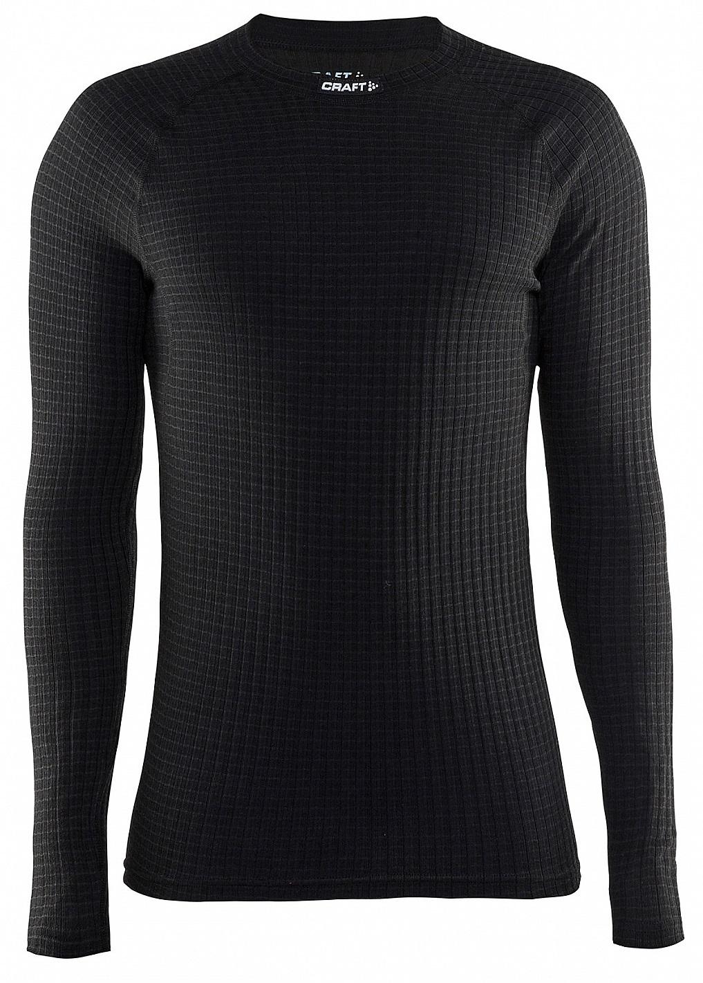 Мужское термобелье рубашка с шерстью мериноса Craft Warm Wool Black (1903726-9999)