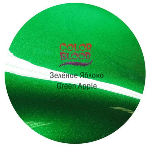 Краска Color Blood Green Apple базовая прозрачная (кенди) Зеленое яблоко, 50мл