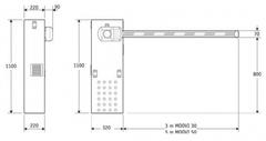 Автоматический шлагбаум MOOVI 30S скоростной (стрела 3,4 м)