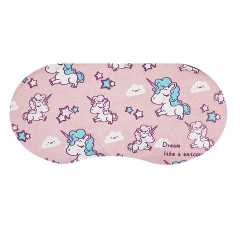 Маска для сна Unicorns Pink