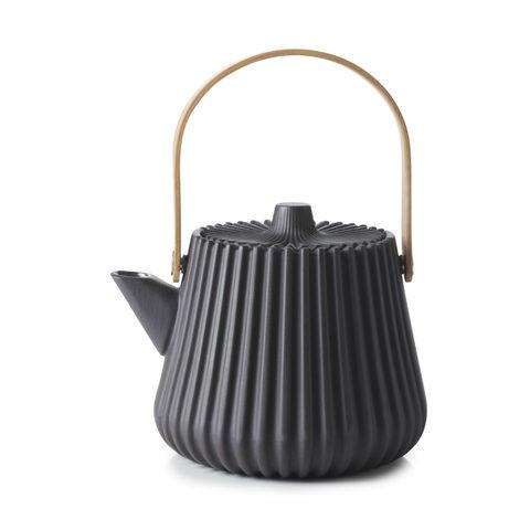 Фарфоровый чайник с ситечком, черный, артикул 653693, серия Pekoe