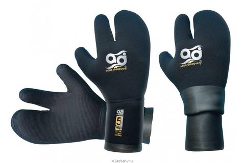 Перчатки AquaDiscovery трехпалые с двойной обтюрацией 7 мм