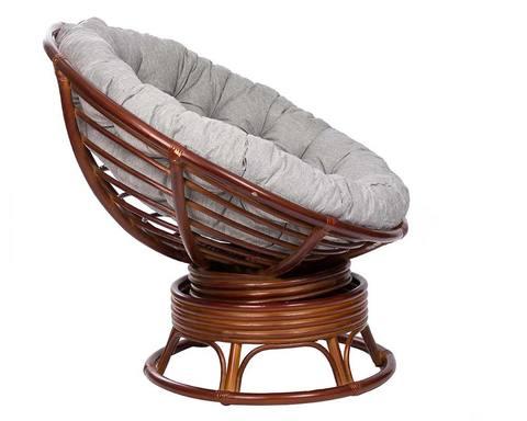 Кресло-качалка из ротанга Papasan Swivel Rocker с подушкой