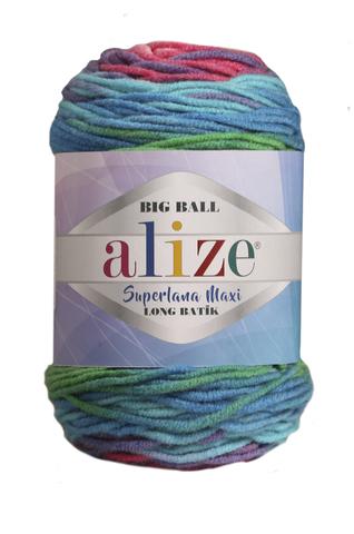 Купить Пряжа Alize Superlana Maxi long batik | Интернет-магазин пряжи «Пряха»