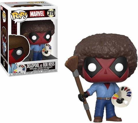 FUNKO POP! Bobble: Marvel: Deadpool Playtime: Deadpool Bob Ross 30865