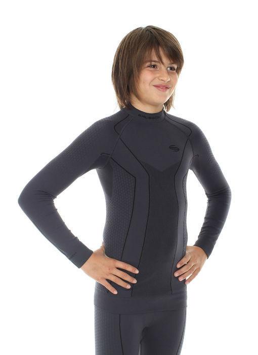 Термобелье рубашка подростковая Brubeck Thermo (LS11690) для мальчиков синяя