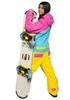 Женский утепленный сноубордический комбинезон Cool Zone Mix 3522/12 желтый-бирюза