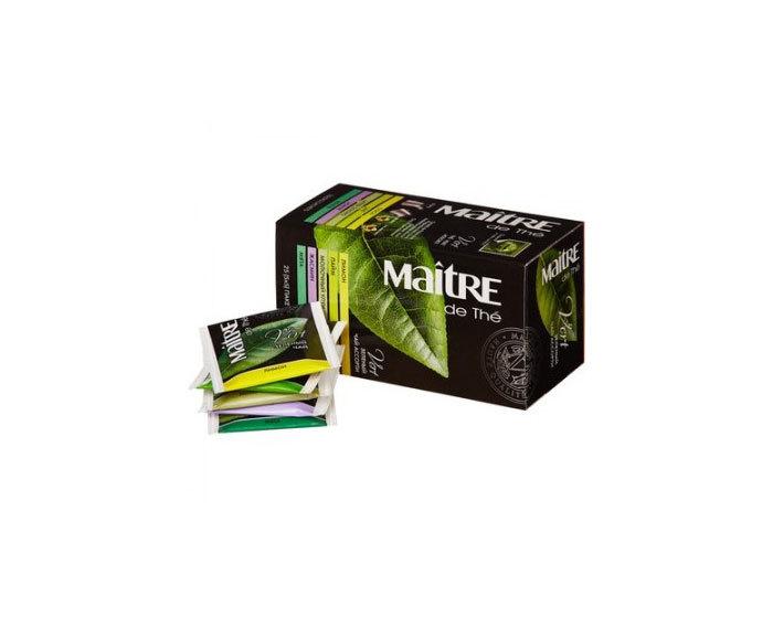 Чай зеленый в пакетиках Maitre ассорти, 25 пак./уп (Мэтр)