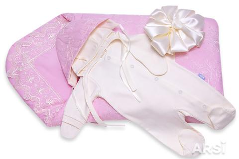 ARSI Комплект на выписку Нежность (5 предметов) розовый
