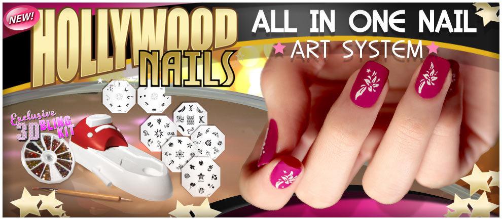 Hollywood Nails принтер штамп для ногтей