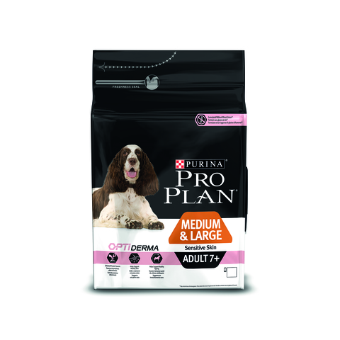 Pro plan medium & large adult 7+ sensitive skin with salmon & rice dog