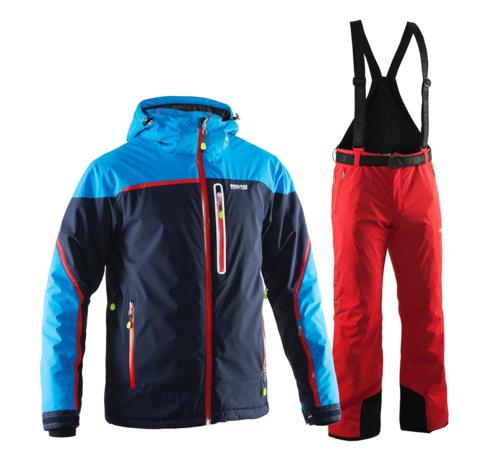 Мужской горнолыжный костюм 8848 Altitude Iron/Guard (navy/red)