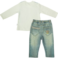 Папитто. Комплект кофточка и штанишки для девочки FASHION JEANS вид 2