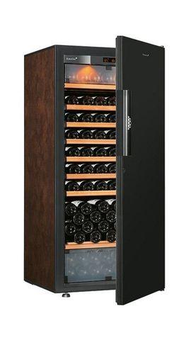 Винный шкаф EuroCave E-Pure-M сплошная дверь Black Piano, цвет буйвол, максимальная комплектация