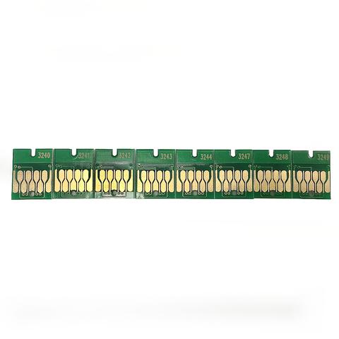 Комплект чипов для Epson SureColor SC-P400, авто обнуляемые, 8 штук