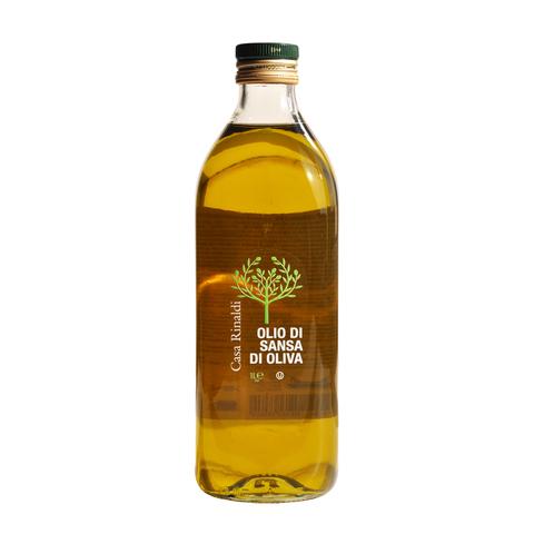 Масло оливковое нерафинированное 1 л (OLIO DI SANSA E OLIVA 1L)