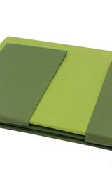 Постельное белье семейное Caleffi Bicolor зеленое