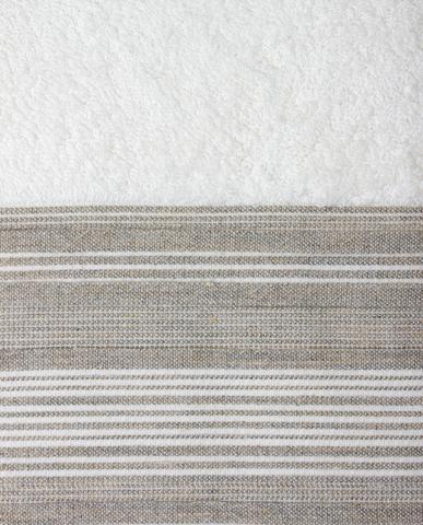 Полотенце 50x100 Devilla Brest Сплошная полоса белое