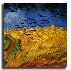 """Репродукция """"Ван Гог - Вороны на пшеничном поле"""""""