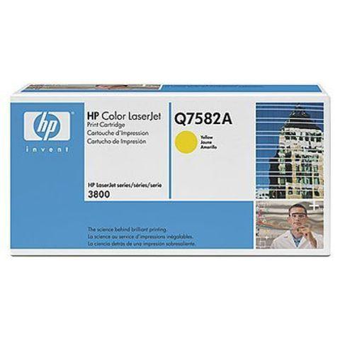 Картридж HP Q7582A yellow - тонер картридж для HP Color LaserJet 3800, 3800dn, 3800dtn, 3800n, CP3505, CP3505dn, CP3505n, CP3505x (желтый, 6000 стр.)
